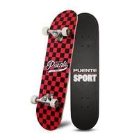 PUENTE Pet 602 Four wheel Double Kick Deck Skateboard for Entertainment with T shape Gadget