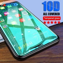 10D Full Tempered Glass on the For iPhone 7 8 6 Plus Screen Protector Cover Protective 6s XR XS Max 9H