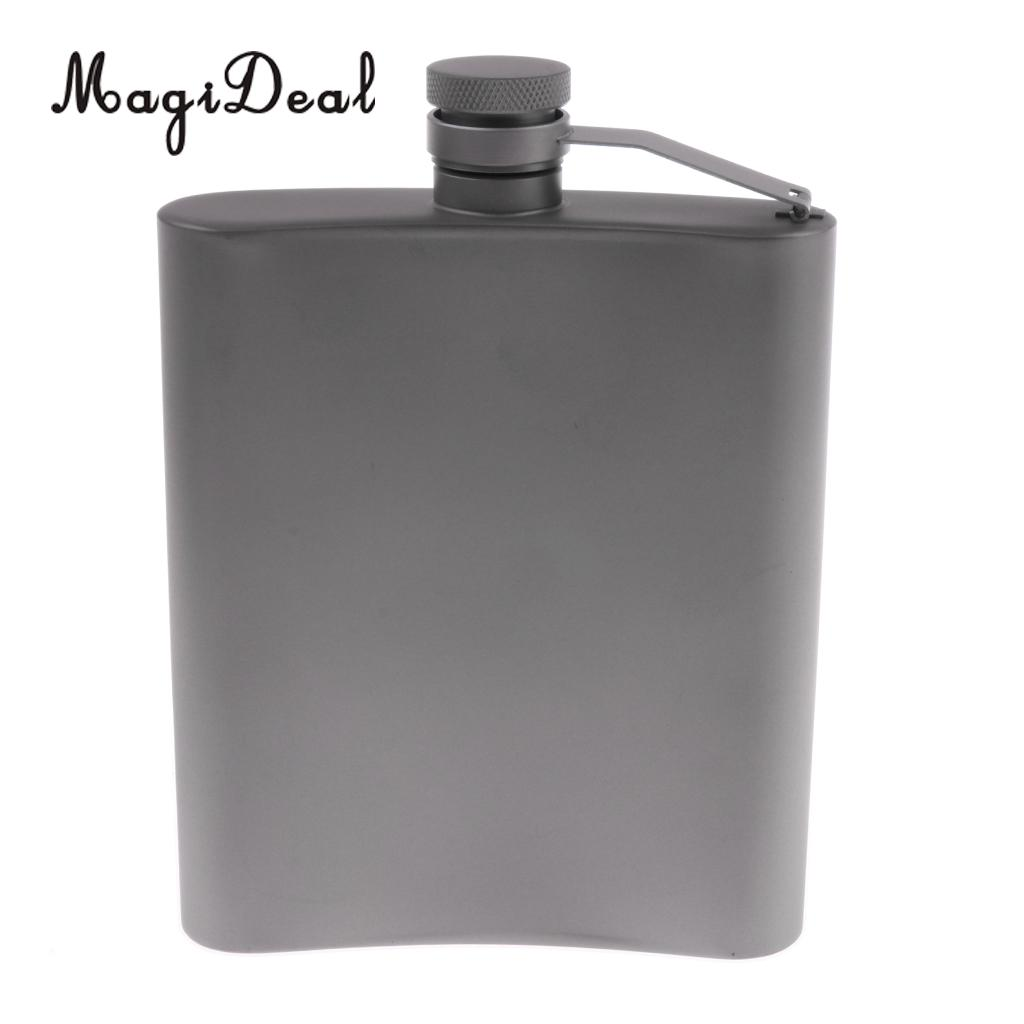 220ml Titanium Hip Flask Outdoor Camping Flat Liquor Flask Alcohol Whiskey Flagon Wine Pot Travel Picnic