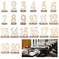 1 20 Seat Card Wooden Wedding Party Supplies Density Board Place Holder Table Number Figure Card Digital Seat Decoration