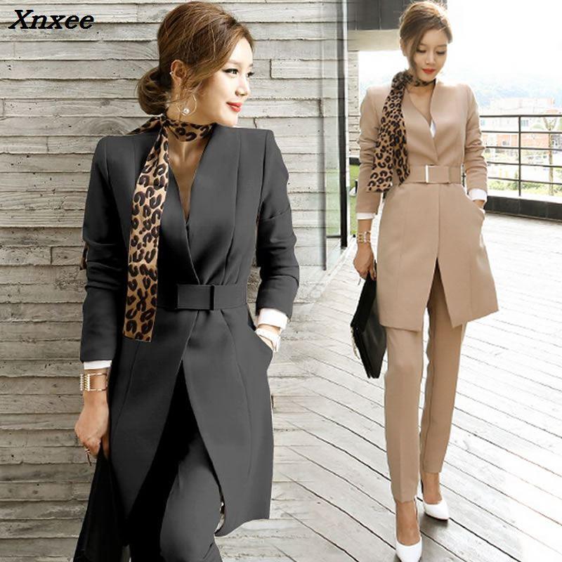 Pant suits women blazers set office lady formal business suits work wear uniform sets long style