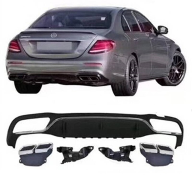 Decoration Styling Modification Automobile Auto Modified Tuning Rear Diffuser Car Front Lip Bumpers FOR Mercedes Benz E Class