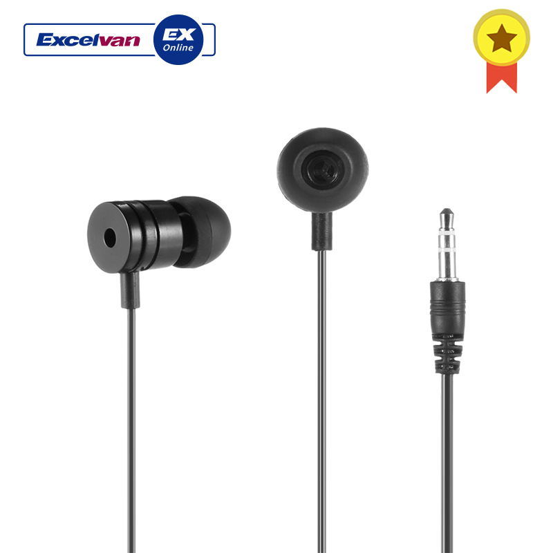 Excelvan 3.5mm Wired Earphone Universal Crystalline Headphone For Mobile Phone / Computer / MP3 For MP3 Computer