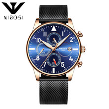 NIBOSI Relojes Hombre Watch Men Fashion Sport Quartz Clock Mens Watches top brand luxury Masculino Reloj Chronograph Quartz watches men business sport watch quartz fashion mens watches reloj hombre date clock top brand luxury watch masculino relojes