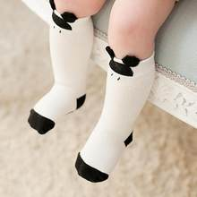 Cute Baby Socks Cartoon Cat Paw Print Feet Wear Soft Cotton Newborn Baby Warm Socks leg cover Kids Infants guard Footwear(China)