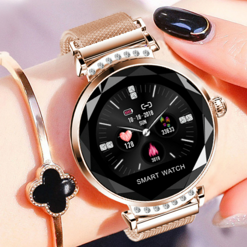 2019 Best Smart Watch Women Bracelet New Arrival Ladies Magnetic Mesh Band Smartwatch Fitness Heart Rate Monitor For android IOS analog watch
