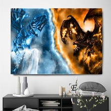 World Of War Craft Fight War Vintage Poster Prints Oil Painting On Canvas Wall Art Murals Pictures For Living Room Decoration недорого