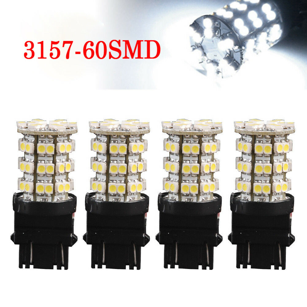 Automobiles & Motorcycles Car Lights Just 2x White 3157 60smd Led Light Bulbs Daytime Running Tail Brake 3156 4114 3157a Beneficial To The Sperm