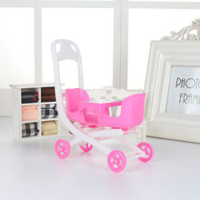 9 Styles Plastic Car Toy Plastic Car Toy For Doll Dollhouse Miniature Furniture Plastic Stroller Bike Car(China)