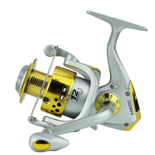2018 Direct Selling Real River Daiwa Spinning Reel Hengelsport Fishing Line Round Fish Wheel The Sea Pole Plastic Head Yellow selling the sea