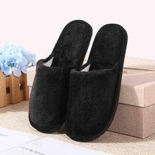 Мягкие плюшевые домашние тапочки; мужская домашняя обувь из хлопка; большие размеры; Зимние Повседневные кроссовки для мужчин; теплые тапочки