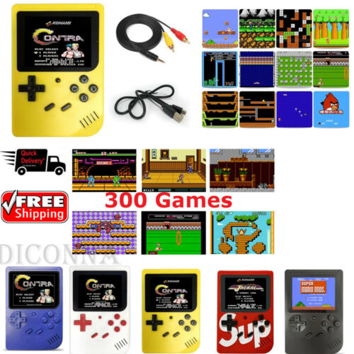 Retro Mini Palm Handheld Video Game Player Console Built-in 300 Games Xmas Gifts Handheld Game Players