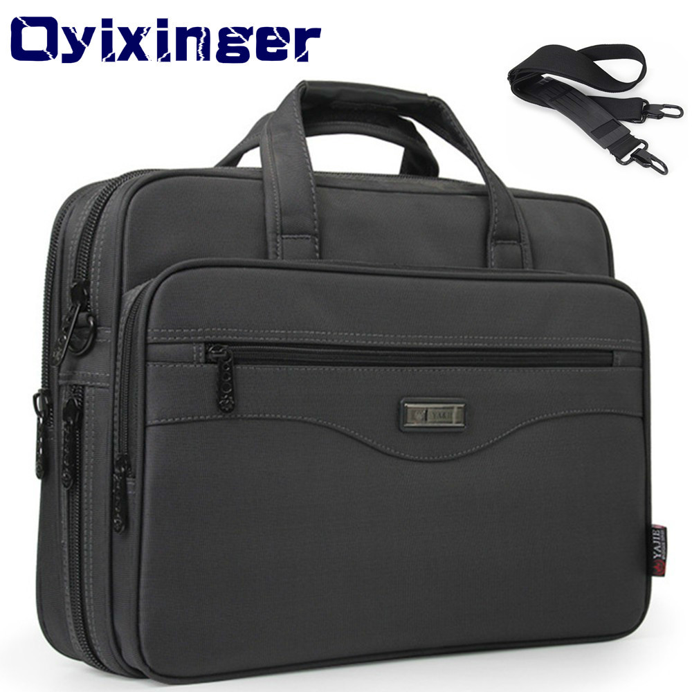 Men's Business Briefcase Laptop Bag Waterproof Oxford Cloth Men Computers Handbags Business Portfolios Man Shoulder Travel Bags