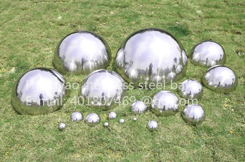 Gümüş Dia 100mm 10cm 304 paslanmayan polad içi boş - Ev dekoru - Fotoqrafiya 1