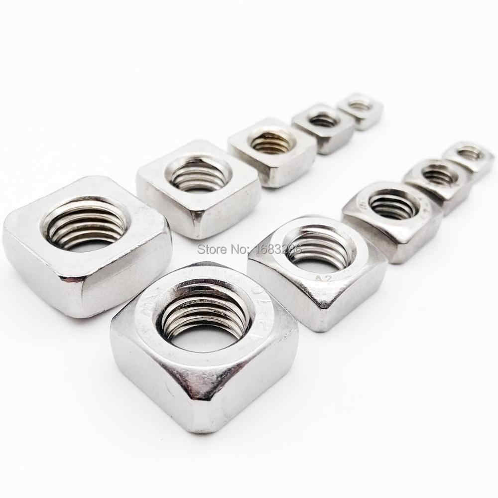 TXBH 100pcs//lot M3 M4 M5 M6 Carbon Steel Thin Square Nut Quadrangle Block GB39 Compatible with Prusa MK3 Size : M6x9x3