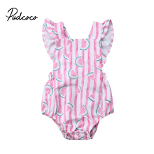 Casual Newborn Infant Baby Girls Kid Striped Sleeveless Rompers Clothes Playsuit Jumpsuit