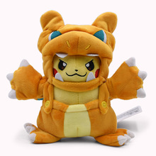 Anime Cartoon Doll Pikachu Cosplay Charizard Plush Soft Stuffed Toys Great Christmas Peluche Gift For Children 2018 New Style