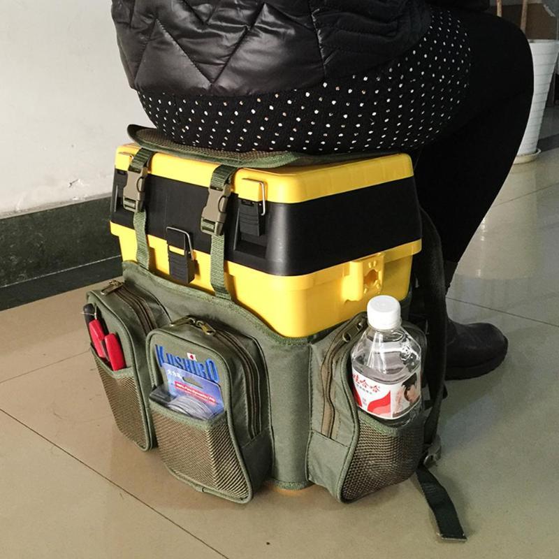 Multifunctional Fishing Bags Nylon Bait Box Storage Waterproof Package Lure Pack Carp Fishing Tackle Backpack Pesca Dropshipping