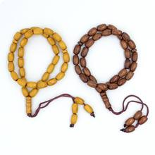 8mm Wooden 33 Prayer Beads Islamic Muslim Tasbih Subhah Masbahah Misbahah Allah Muhammad Rosary(China)