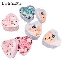 20Pcs/lot Cartoon Cute Baby Girl Hairband Gift Box Packed Headbands for Babies Girls New Fashion Elastic Hair Accessories