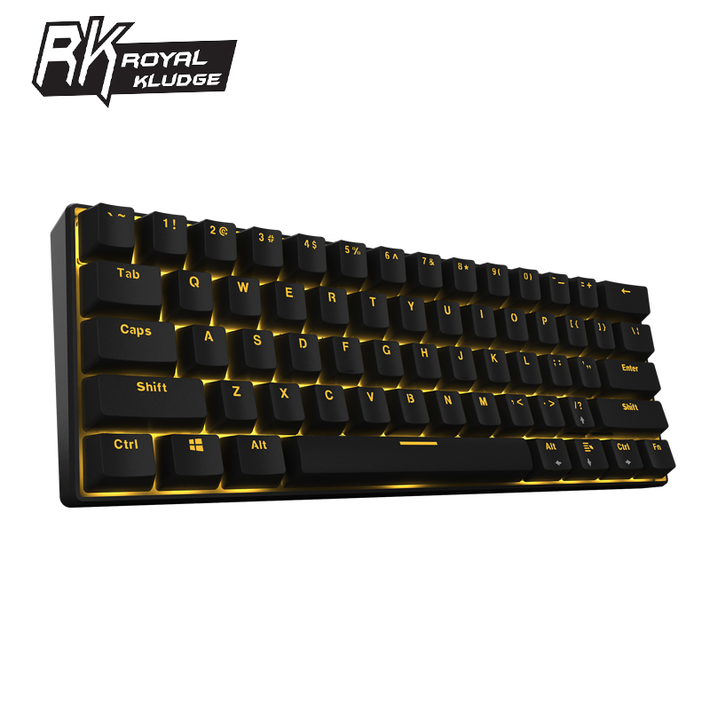 Royal Kludge Rk61 Ergonomic Bluetooth Wired Dual Mode 60 Rgb Light Mechanical Gaming Keyboard For Laptop Tablet Or Mobile Phones Keyboards Aliexpress