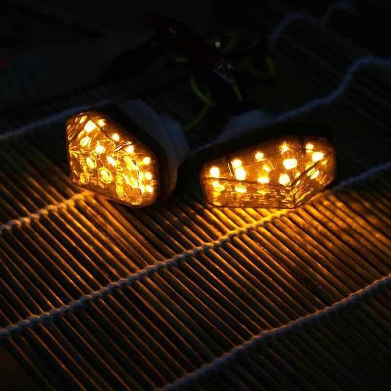 1 זוג 12 V אופנוע LED להפוך אות מחוון אורות הר פלאש נצנץ מנורות עבור סוזוקי GSXR 600/750 מנוע אבזרים