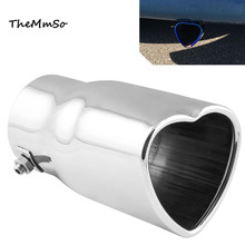 New products Free Shipping car refit general Heart shape shaped exhaust pipe muffler tail throat