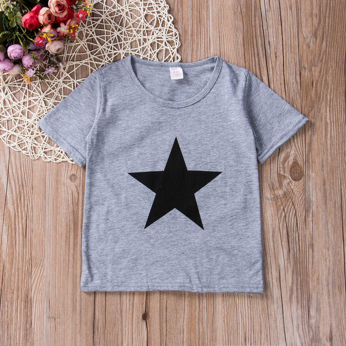 2019 הכי חדש סגנון מכירה לוהטת פעוט ילדים מקסים בני קיץ חולצה קצר שרוול ילדים חמוד חולצות טי גודל 2-7Years