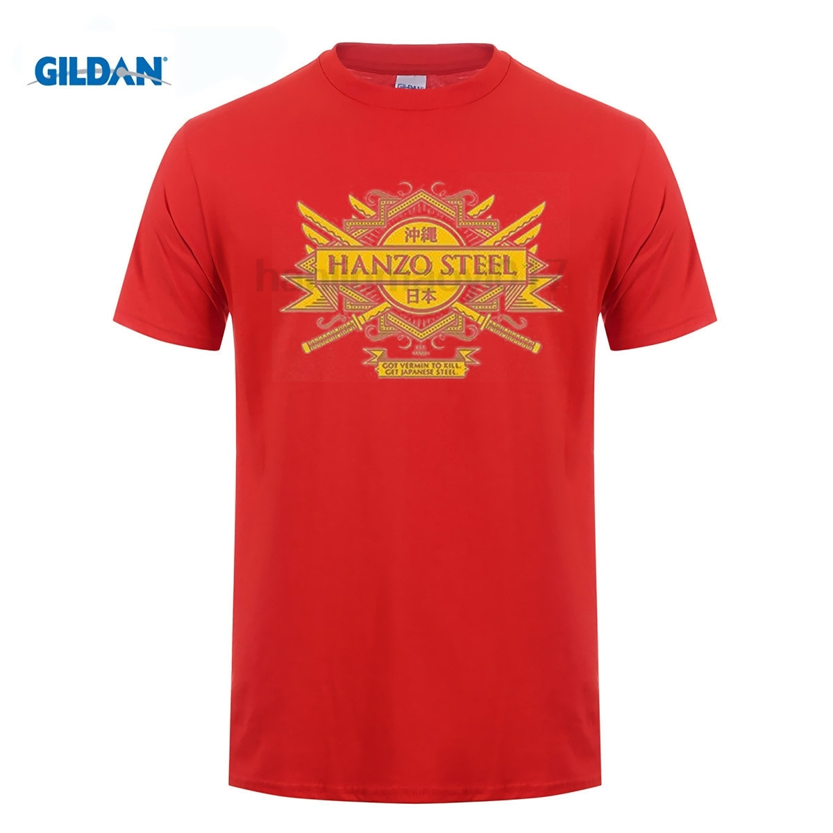 GILDAN Hanzo Steel T-Shirt 100% Cotton Kill Bill Inspired Quentin Tarantino Sword Cheap Sale 100 % T  For Boys