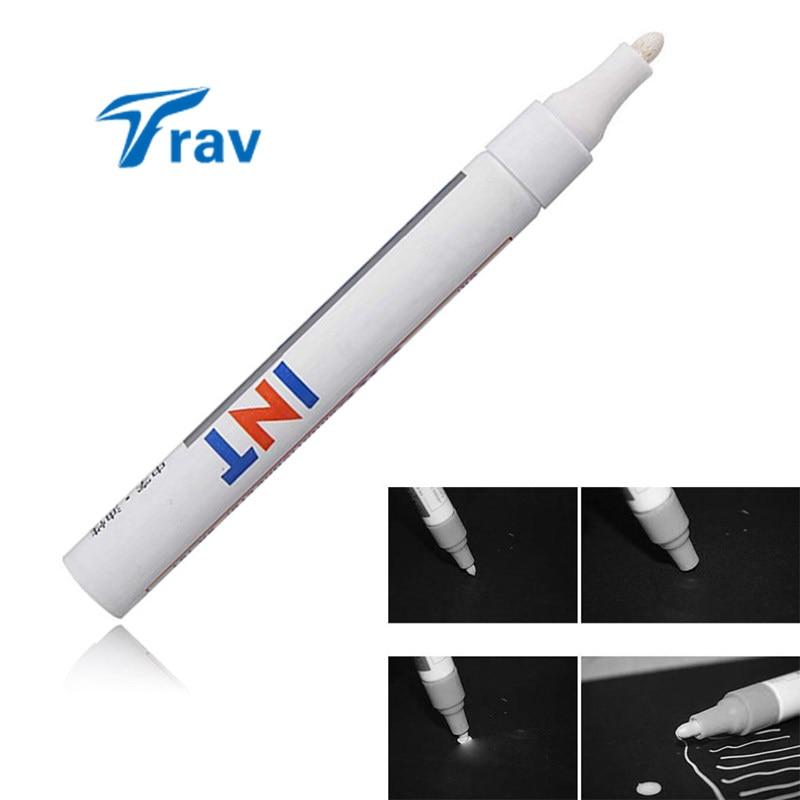 5ks / sada Univerzální nepromokavé permanentní značkovací pero, auto, pneumatika, běhoun, guma, bílá