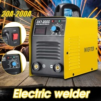 New 220V 20 200A 25KVA Handheld Mini MMA IGBT Inverter Mini Electric IGBT MMA ARC ZX7 7Welding Welder Machine Tool