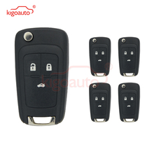 Kigoauto 5pcs 3 button 433 Mhz with ID46 chip 2010 2011 2012 2013 2014 for Chevrolet Cruze flip remote key 315 433 868 mhz smart remote key 4 buttons for bmw 3 5 7 series cas4 system 2009 2010 2011 2012 2013 2014 2015 2016 kr55wk49863