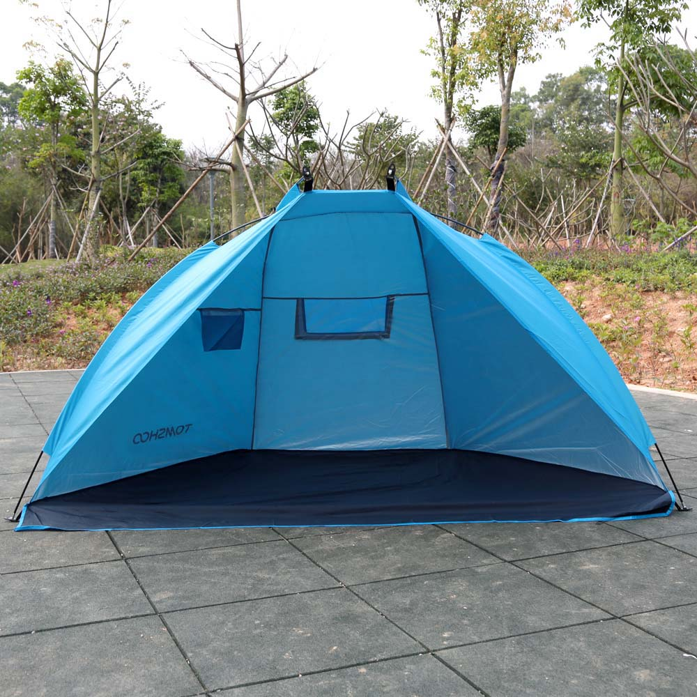 TOMSHOO Summer Beach Tent Outdoor Camping Tent Anti UV Sunshade Shelter For Fishing Picnic Beach Park Sports Fishing Tent