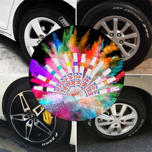 Stylo de réparation de peinture imperméable pour voiture, anti-rayure, 12 couleurs disponibles