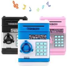 Hucha electrónica con contraseña para guardar dinero, caja de dinero para ahorro de monedas, ATM, caja fuerte de banco, papel de desplazamiento automático, regalo para niños