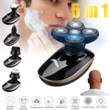5 In 1 4D Rechargeable Bald Head Electric Shaver Wet&dry Use Water