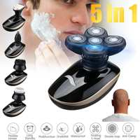 5 In 1 4D Rechargeable Bald Head Electric Shaver Wet&dry Use Waterproof Multipurpose Shaver