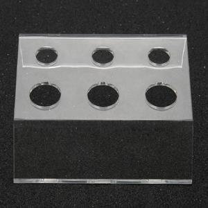 Image 4 - Soporte de 6 agujeros para tatuaje taza para tinta recipiente de pigmento soporte acrílico maquillaje permanente Microblading Pigment Cup Cap Holder