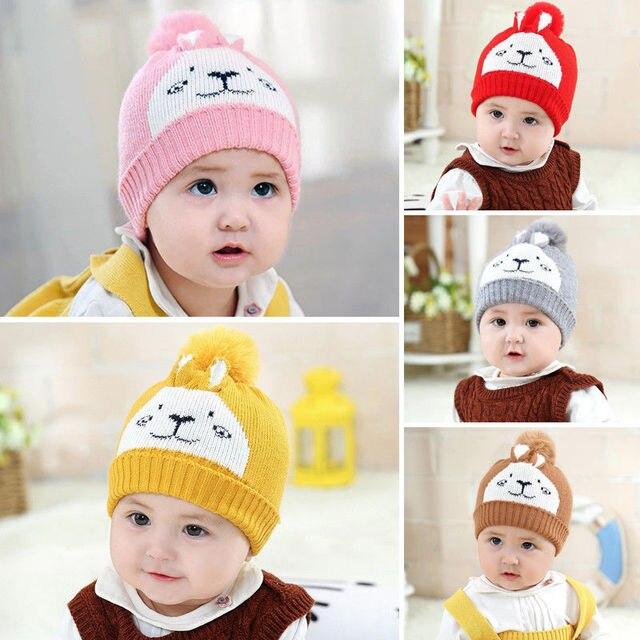 fdee3311af3f3 Fashion Brand Newest Cute Toddler Kid Girl Boy Baby Infant Winter Warm  Crochet Knit Hat Beanie Cap Newborn Cartoon Bear Soft Hat