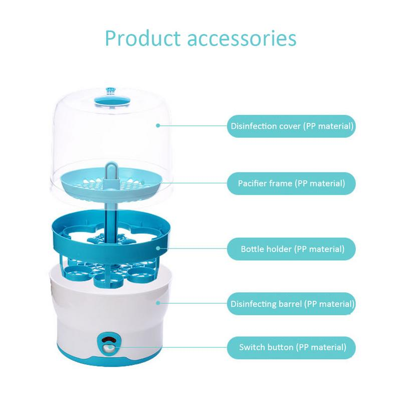 2 Layers Baby Bottle Sterilizer No Chemical Steam Nursing Bottle Sterilization Dry Device Portable Baby Health Disinfectio Tool