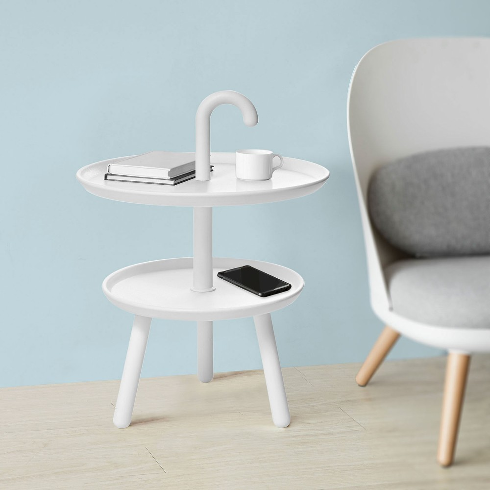 Stupendous Sobuy Fbt71 W 2 Tiers Round Plastic Side Table Tea Coffee Pabps2019 Chair Design Images Pabps2019Com