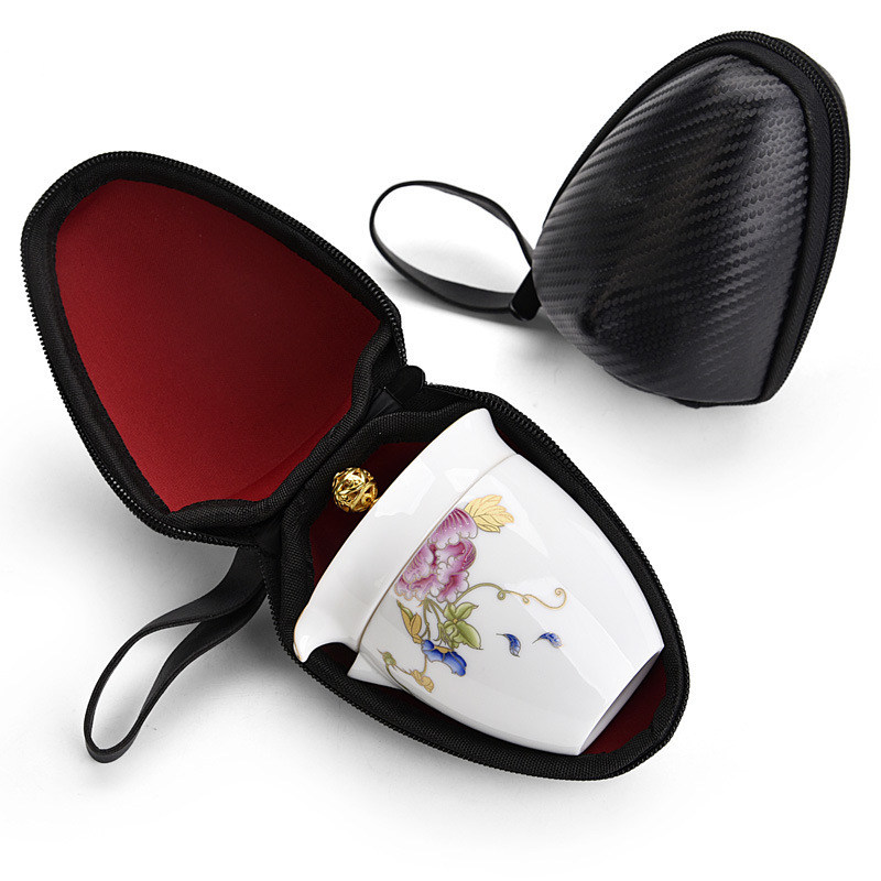 Feng Ware Travel Tea Set Suit Portable Package Type A Pot Of Two Cup Teapot Outdoors Vehicle Tourism Teacup Fast Off The Cup