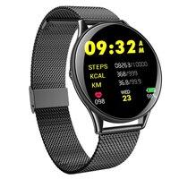 스마트 시계 ip68 방수 강화 유리 활동 피트니스 트래커 심박수 모니터 스포츠 남성 여성 smartwatch