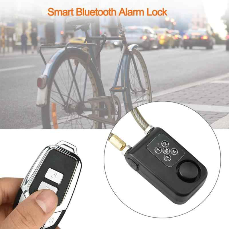 Portable Bicycle Alarm Safety Electric Chain Lock for Bicycle//Motorcycle//Door Gate Wireless Remote Alarm Lock Bike Lock