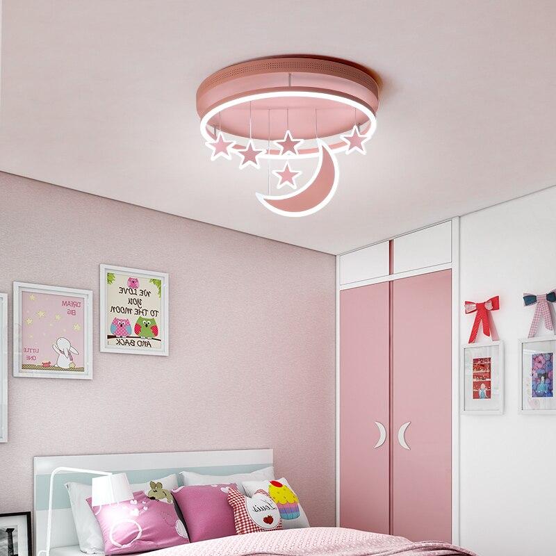 New Ceiling Lights Girl Children Room Bedroom Modern LED Lighting Surface Mount Remote Control Indoor Lamp
