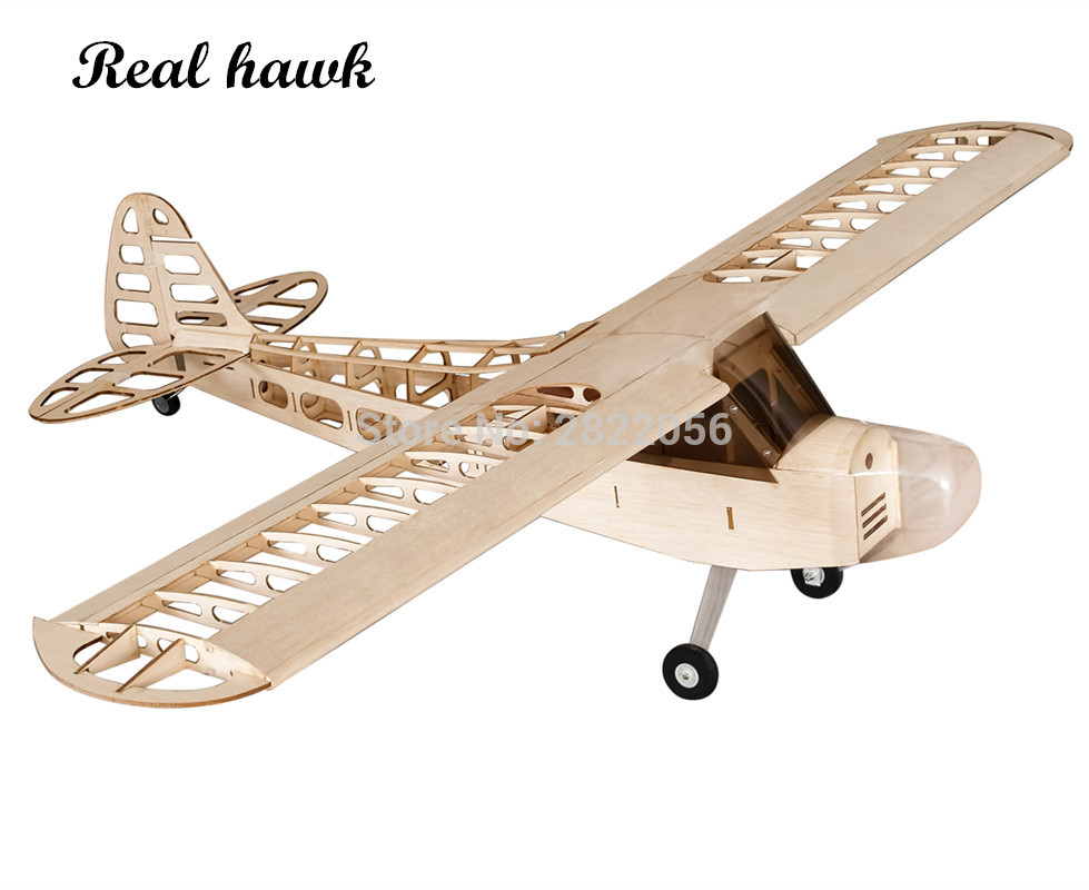 Balsawood Airplanes Model Laser Cut J3 1180mm Wingspan Both Gas or Electric Power Building Kit Woodiness