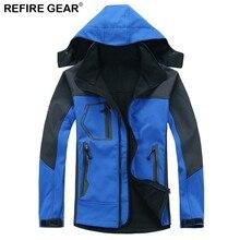 Refire Gear Spring Outdoor Soft shell Jacket Men Windproof Waterproof Hiking Camping Heated Warm Fleece Jackets Clothing Men недорого