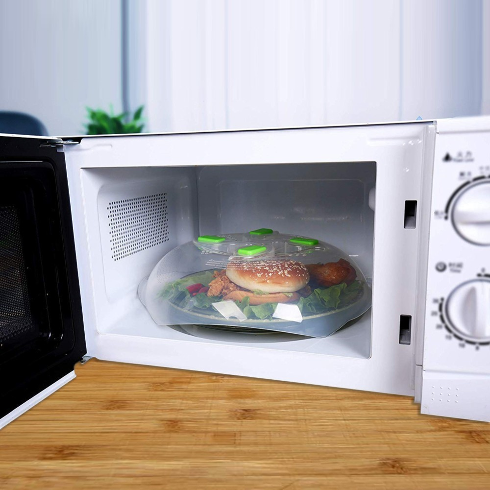 New Food Splatter Guard Microwave Hover Anti-Sputtering Cover Oven Oil Cap Heated Sealed Plastic Cover Dish Dishes Food Cover Revlon Pro Collection Salon One-Step Hair Dryer and Volumizer