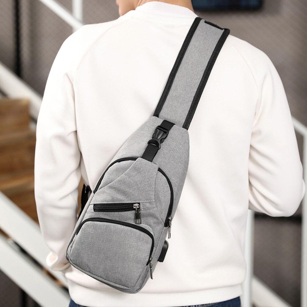 Hot décontracté hommes poitrine sac Oxford sac à bandoulière multifonctionnel petit mâle mode sacs à bandoulière