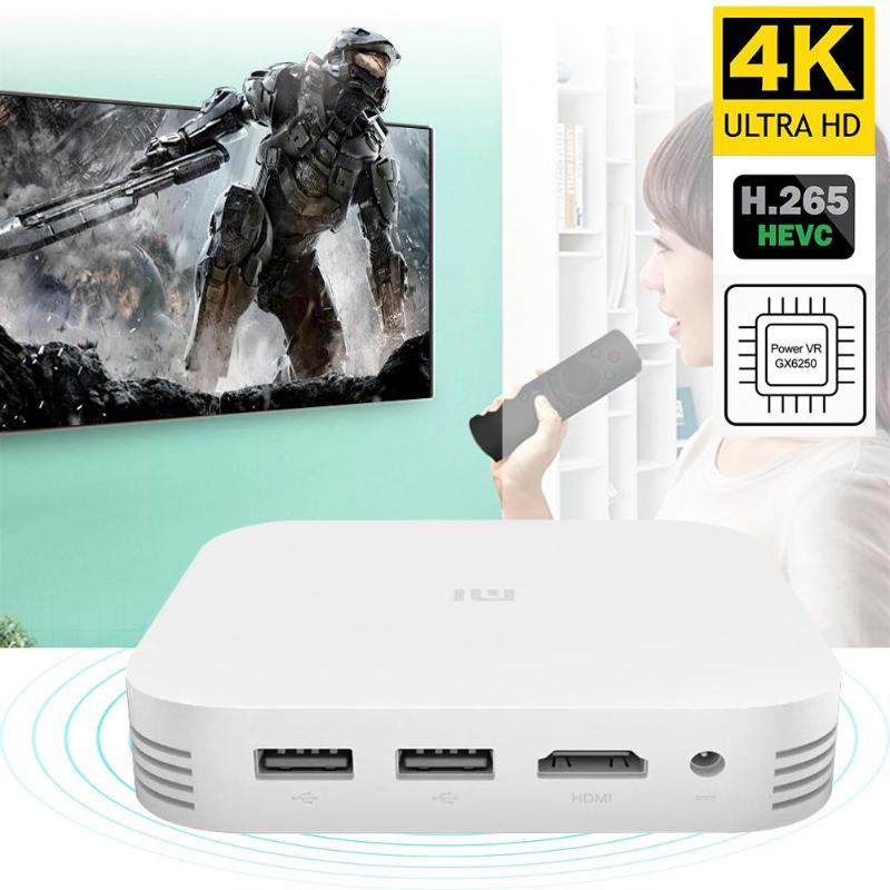Xiao mi mi TV Box 3 Version chinoise 2.4G Android 5.1 Wifi HD 1080 P Bluetooth 4.1 lecteur multimédia intelligent 2G/8G Quad Core décodeur